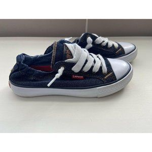 Levi's Denim Canvas Slip On Sneakers Shoes Youth 1